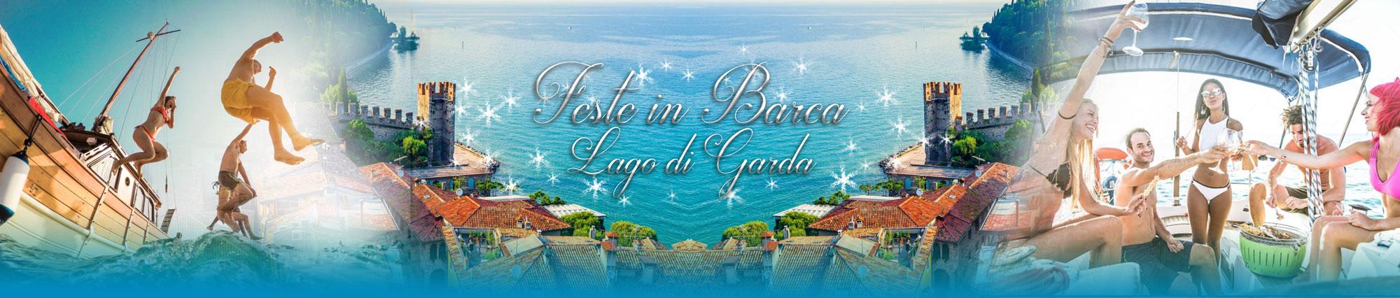 Feste in barca sul lago di Garda
